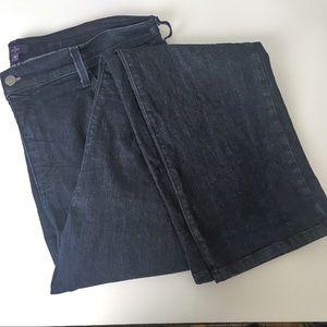 NYDJ dark wash straight leg jeans